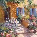 Terrasse fleuri