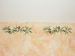 Frise provençale au pochoir