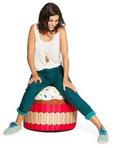Pouf Cupcake