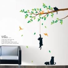 Sticker Arbre et Chats - Sticker muraux pour la décoration d'intérieur par Ambiance-Live