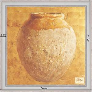 Earthenware jar Of Provence - dimensions 80 x 80 cm - White