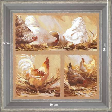 https://tableaux-provence.com/132-1562/white-hens-and-cock.jpg