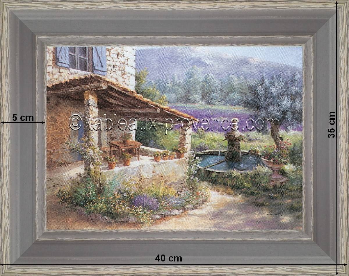 Provençal terrasse - Country Deco - Provence Painting