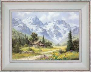 Chalet of mountain