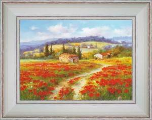 Poppies in the country