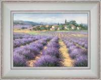 A hamlet in the middle of lavenders