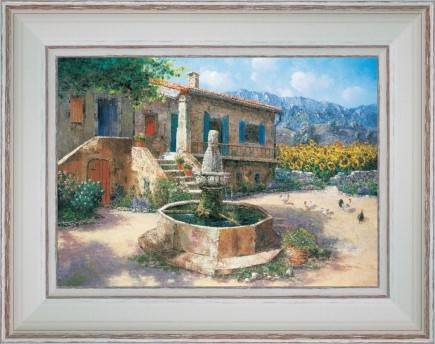https://tableaux-provence.com/193-1901/painting-country-deco-a-fountain-in-the-farmyard.jpg