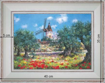 windmill of provence country deco provence painting. Black Bedroom Furniture Sets. Home Design Ideas