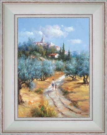 http://tableaux-provence.com/2033-zoom/coutrry-deco-painting-walk-under-the-village.jpg