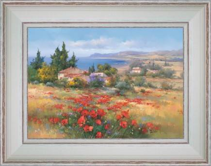 https://tableaux-provence.com/225-2193/poppies-and-small-cottages-by-the-sea.jpg