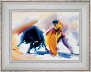 Bullfight - Pass of colored cape