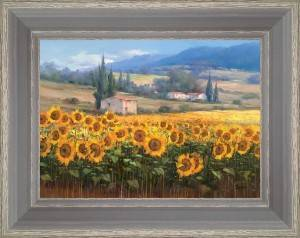 The sunflowers of the small house