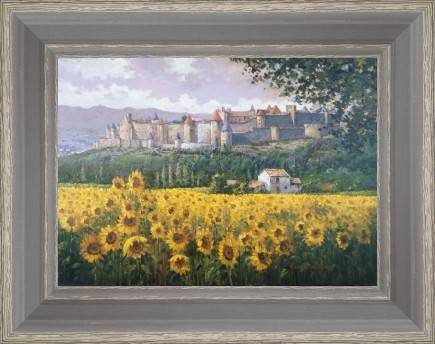 https://tableaux-provence.com/245-2291/fields-of-sunflowers-under-carcassonne.jpg