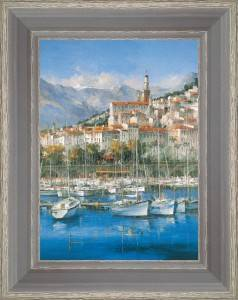 Sailboats in the port of Menton