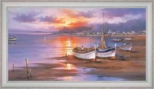Fishing boats in the twilight