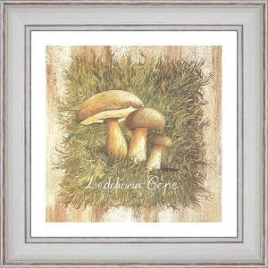 The Delicious Boletus - painting detail 40 x 40cm