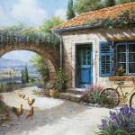 Cour de ferme provençale