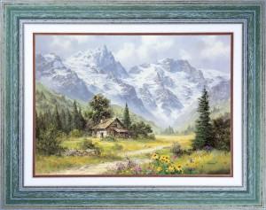 Chalet de montagne - Tableau Montagne