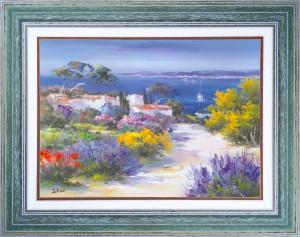 Un mas sur la Côte d'Azur - Tableau Provence