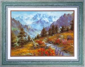 Tableau: Randonnée en montagne
