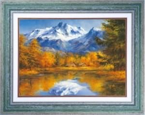 Tableau: Lac de montagne