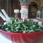 Salade de pissenlits à l'ail