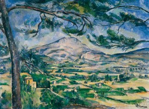 Montagne Sainte Victoire au grand pin- Paul Cézanne