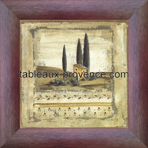 Cabanon orange - Tableau Provence