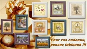 Pour vos cadeaux, pensez tableaux !!!