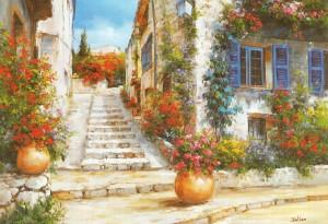 Les escaliers du village