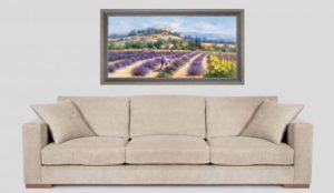 Les couleurs de la Provence tableau-deco-campagne-ramasseurs-de-lavande