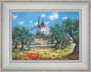 Alphonse Daudet et son moulin à Fontvieille