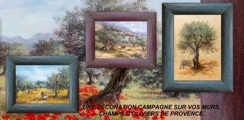 Paysages de Provence - Tableaux Oliviers